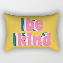 Be Kind Inspirational Anti-Bullying Typography Rectangular Pillow