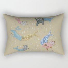 Raining Cats and Dogs Rectangular Pillow