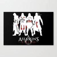 assassins creed Canvas Prints featuring Assassins by Pixel Design