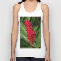 hawaiian Tank Tops featuring Hawaiian flower by lennyfdzz
