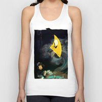 bill cipher Tank Tops featuring Gravity Falls- Dipper Pines And Bill Cipher by merrigel