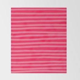 Fuchsia Brush Stroke Stripes Throw Blanket