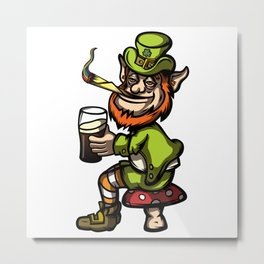 Wasted Leprechaun Metal Print
