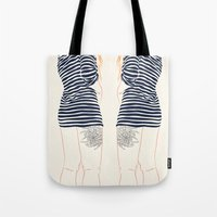 stripes Tote Bags featuring Stripes by Elly Liyana