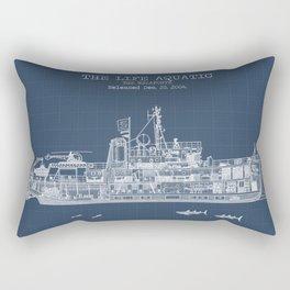 The Belafonte Blueprint Rectangular Pillow