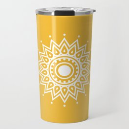 Yellow Mandala Travel Mug