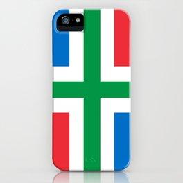 Groningen region Netherlands province Flag iPhone Case