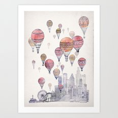 Voyages Over Santa Monica Art Print