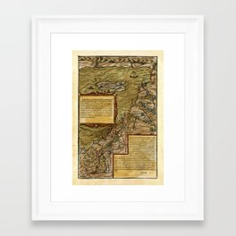 Map Of The Holy Land 1544 Framed Art Print