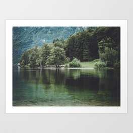 Lake Bohinj in Slovenia, 2 Art Print