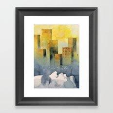 Goodmorning Manhattan Framed Art Print