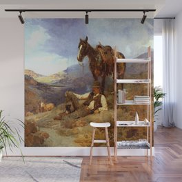 """""""A Morning Shower"""" by Frank Tenney Johnson Wall Mural"""