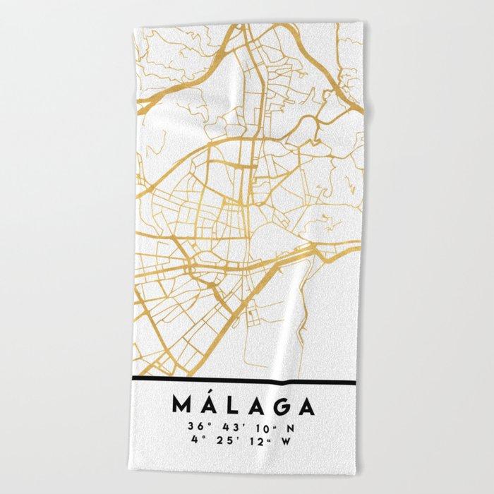 Malaga Spain City Street Map Art Beach Towel By Deificusart Society6