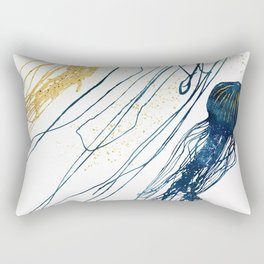 Metallic Jellyfish II Rectangular Pillow