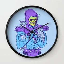 Masters of the Meowniverse Wall Clock