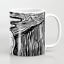 Edvard Munch The Scream 1895 Lithograph Reproduction Artwork for Prints Posters Tshirts Men Women Ki Coffee Mug