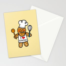 Gingerbread man bakery cookie baker Stationery Cards