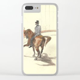 """Henri de Toulouse-Lautrec """"At the Circus: The Spanish Walk"""" Clear iPhone Case"""