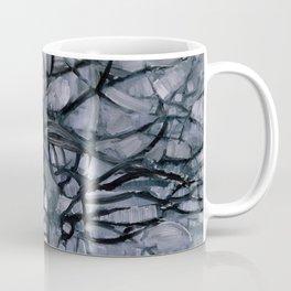 Piet Mondrian - Grey Tree - Abstract Painting Coffee Mug