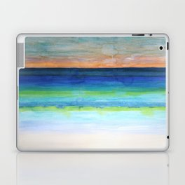 White Beach at Sunset Laptop & iPad Skin