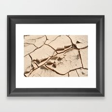 Dry desert soil Framed Art Print