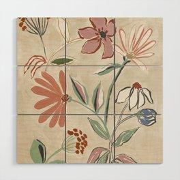 Monday Floral Wood Wall Art
