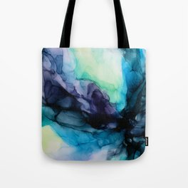 Sweet Pea Pastel Abstract Chaos | Calming Fluid Art Tote Bag