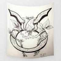 taurus Wall Tapestries featuring Taurus by Megan Dill
