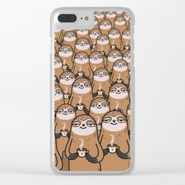 sloth-tastic! Clear iPhone Case