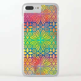 DP050-3 Colorful Moroccan pattern Clear iPhone Case