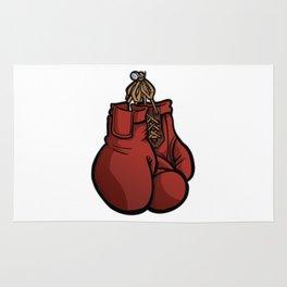 Boxing Gloves Illustration Rug