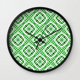 Shibori Watercolour no.7 Green Wall Clock