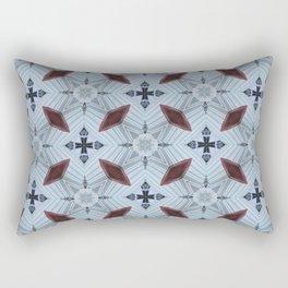 American Folk Red & Blue No. 05 Rectangular Pillow