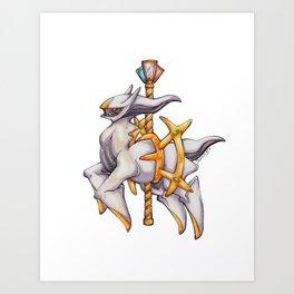 Carousal Arceus Art Print