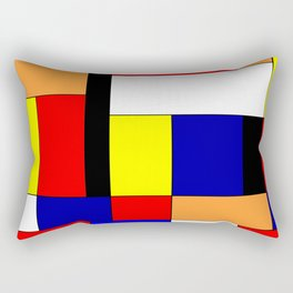Mondriaan #9 Rectangular Pillow