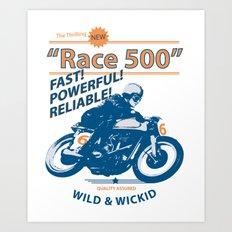 Race 500 Art Print