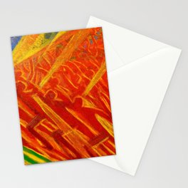 African American Masterpiece, La Révolt, abstract landscape painting by Luigi Russolo Stationery Cards