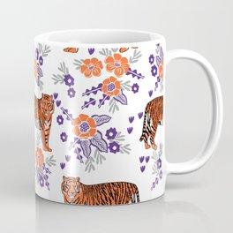 Tigers orange and purple clemson football varsity university college sports fan gifts Coffee Mug
