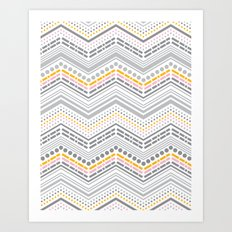 Dash & Dot - Neapolitan Chevron Art Print