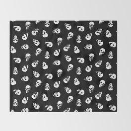 Gossiping Skulls Throw Blanket