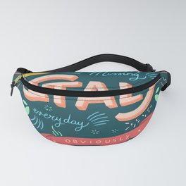 Missing Italy everyday poster Fanny Pack