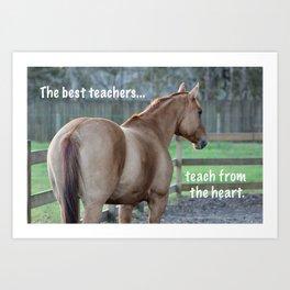 The Best Teachers Art Print