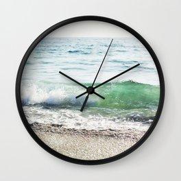 Aqua Waves in California Wall Clock