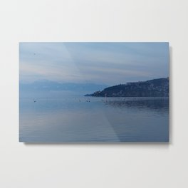 Lake Ohrid Blue hour Metal Print