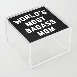 Badass Mom Funny Quote Acrylic Box