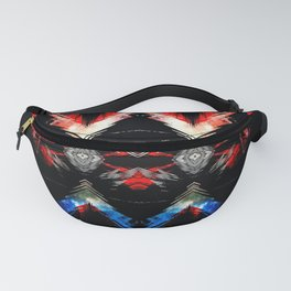 Shifted Red, White, & Blue Fanny Pack