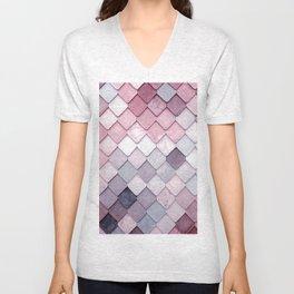 rosa pattern Unisex V-Neck