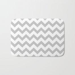 Chevron (Gray & White Pattern) Bath Mat