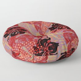 On Fire Kona Tropical Floral Floor Pillow