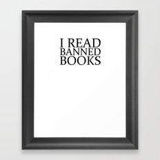 Banned Books Framed Art Print